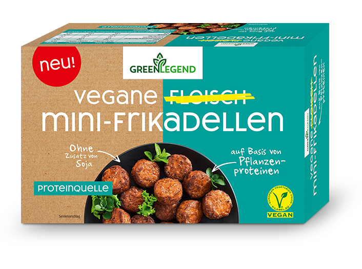 Green Legend Vegane Fleisch Mini-Frikadellen