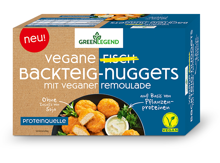 Green Legend Vegane Fisch Backteig-Nuggets